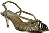 Pelle Moda Firefly - Metallic Leather Rhinestone Slingback Sandal