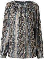 Tom Ford snakeskin print zipped blouse