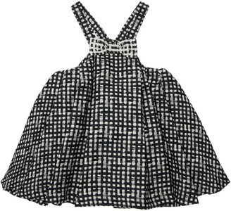 Simonetta Check Dress W/ Bow