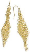 Thalia Sodi Gold-Tone Multi-Link Mesh Drop Earrings, Only at Macy's
