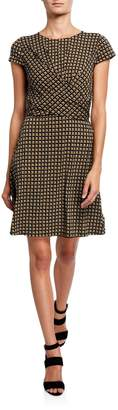 MICHAEL Michael Kors Printed Faux-Wrap A-Line Dress