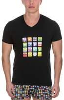 Bruno Banani Men's V-Neck Short Sleeve T-Shirt - -