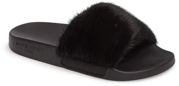 Givenchy Genuine Mink Fur Slide Sandal