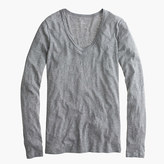 J.Crew Vintage cotton long-sleeve scoopneck T-shirt