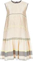 Roksanda Nude Gauze Striped Sleeveless Dress