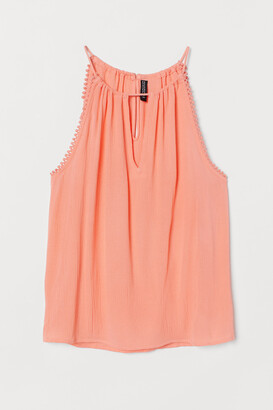 H&M Sleeveless Crinkled Top