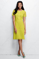 Classic Women's Petite Short Sleeve Lace Sheath Dress-Limelight
