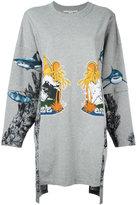 Stella McCartney 'Felpa Lunga' sweater - women - Cotton/Spandex/Elastane - 36