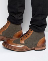 Ted Baker Sealls Wool Mix Brogue Boots