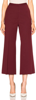 Rosetta Getty Cropped Straight Flare Pant