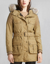 Belstaff Treckmaster Parka With Fur Antique Beige