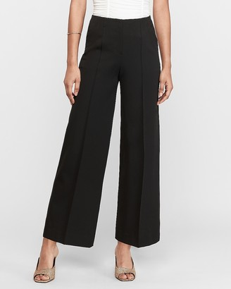 Express High Waisted Seamed Wide Leg Ankle Pant