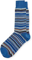 Neiman Marcus Multi-Stripe Mercerized Cotton Socks
