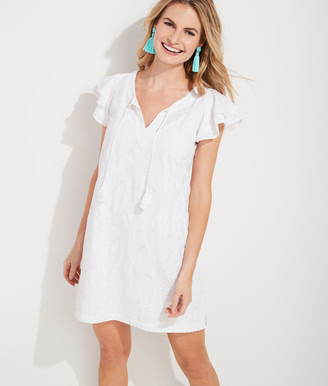 Vineyard Vines Embroidered Palm Vineyard Tunic Dress