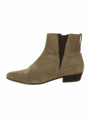 Etoile Isabel Marant Suede Chelsea Boots Green