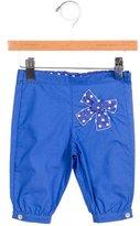 Tartine et Chocolat Girls' Bow-Adorned Straight-Leg Pants w/ Tags