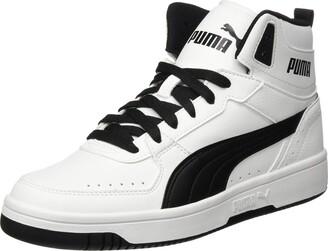 Puma Unisex Rebound Joy Sneaker White Black 8 UK