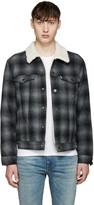 Levi's Grey Sherpa Trucker Jacket