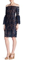 Alexia Admor Off-the-Shoulder Lace Knit Dress