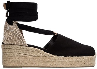 Castaner Black Campesina 30 Canvas Wedge Espadrilles