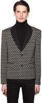 Polka Dot Cool Wool Jacquard Jacket