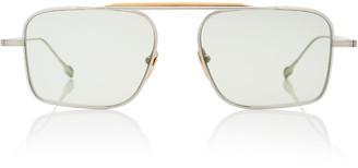 Scarpa Jacques Marie Mage Square-Frame Silver-Tone Sunglasses