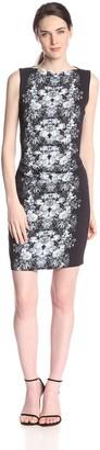 Nicole Miller Women's Quinn Ghost Flower Crepe Dress