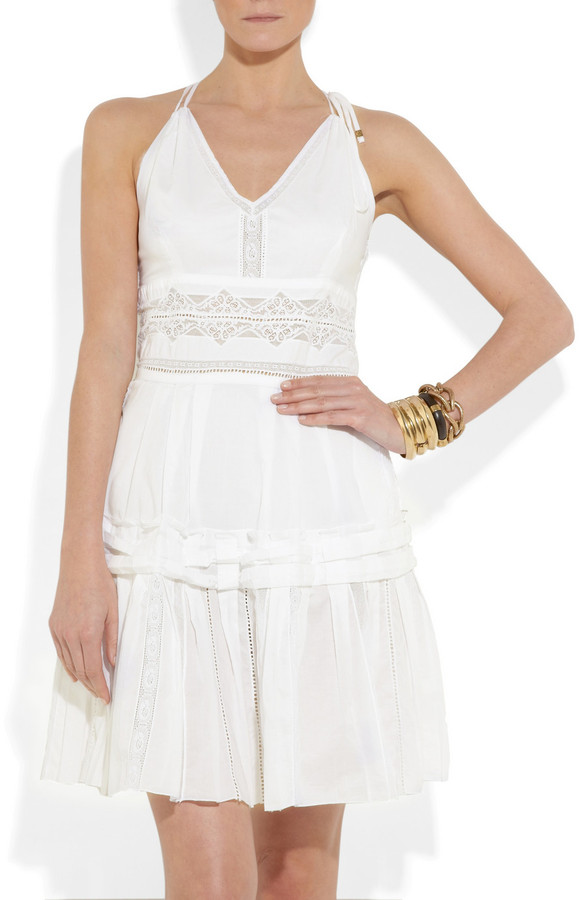 Roberto Cavalli Broderie anglaise cotton dress