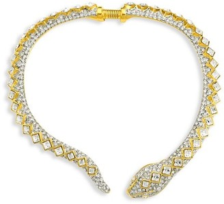 Kenneth Jay Lane Snake Crystal Choker