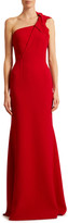 Roland Mouret Gosford Knotted One-Shoulder Column Gown