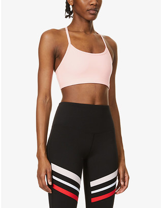 Lorna Jane Nat stretch-woven sports bra