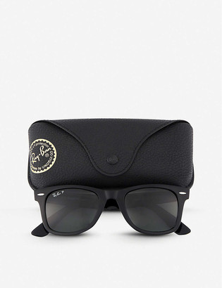 Ray-Ban Black thick frame wayfarer sunglasses RB2140