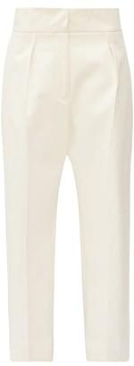 Jil Sander Pleated Cotton-moleskin Trousers - Womens - Cream