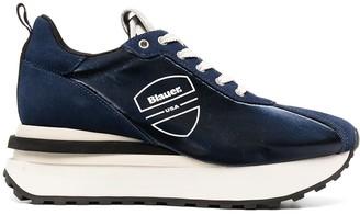Blauer Abel platform trainers