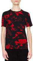 Maison Margiela People-Print Short-Sleeve Graphic Tee, Black