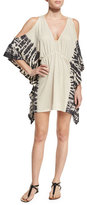 Ale By Alessandra Free Spirit Cold-Shoulder Tunic Coverup, Natural