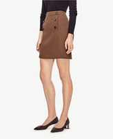 Ann Taylor Button Front A-Line Skirt