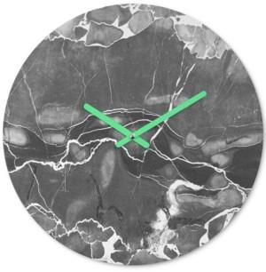 Deny Designs Emanuela Carratoni Grey Marble Round Clock