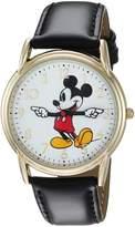 Disney Men's 'Mickey Mouse' Quartz Metal Casual Watch, Color: (Model: WDS000405)