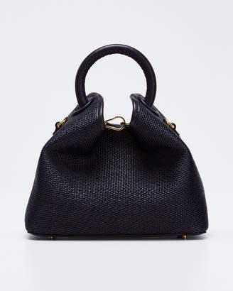 Elleme Baozi Medium Woven Raffia Tote Bag