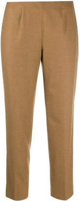 Piazza Sempione Cropped Virgin Wool Blend Trousers