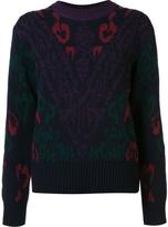 Sacai Jacquard Printed Sweater