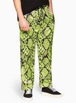 Topman JADED Snakeskin Satin Trousers*