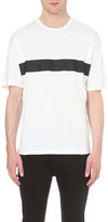 Emporio Armani Tape-detail cotton-jersey t-shirt