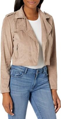Lola Jeans Women's Sueded Moto Jacket