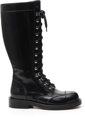 Dolce & Gabbana Lace-Up Combat Boots