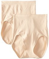 Bali Women's Shapewear Shaping Brief Ultra Control 2-Pack, Soft Taupe, XX-Large