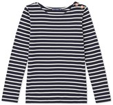 Petit Bateau Womens long-sleeved striped light cotton T-shirt