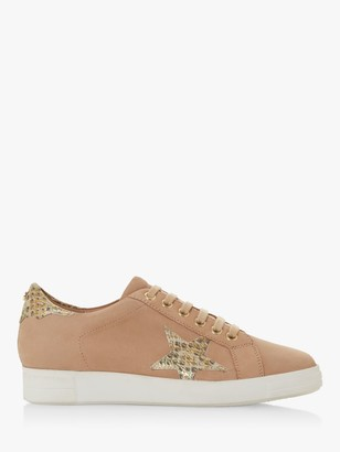 Dune Edris S Lace Up Star Trainers, Camel