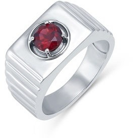 V3 Jewelry Sterling Silver Choice of Gemstone Solitaire Men's Ring